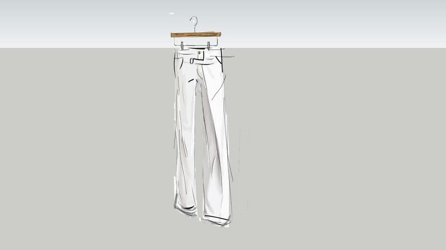 2D-Retail Pants hanging