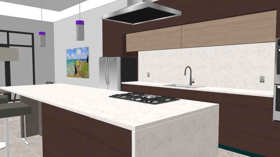 Modern Kitchen Concept Design 3d Warehouse