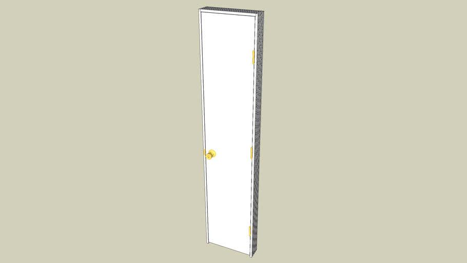 Interior Door 80 X16 Flat Hollow Core W 4 5 Frame Hardware 3d Warehouse