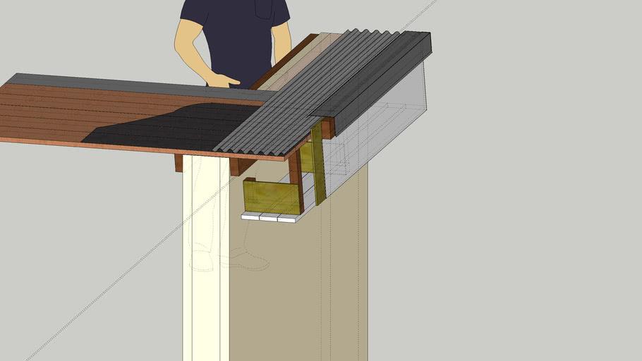 Roof detail þak kanntur