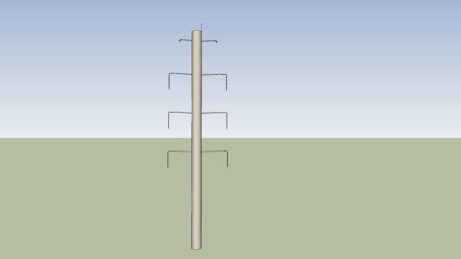 A Concrete Electrical transmission line