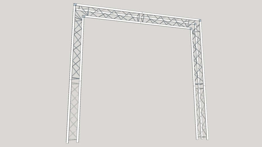 Global Truss F23 Triangle Truss Goal Post System