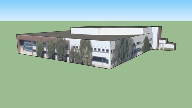 Budynek przy Downey-Norwalk, Kalifornia, Stany Zjednoczone