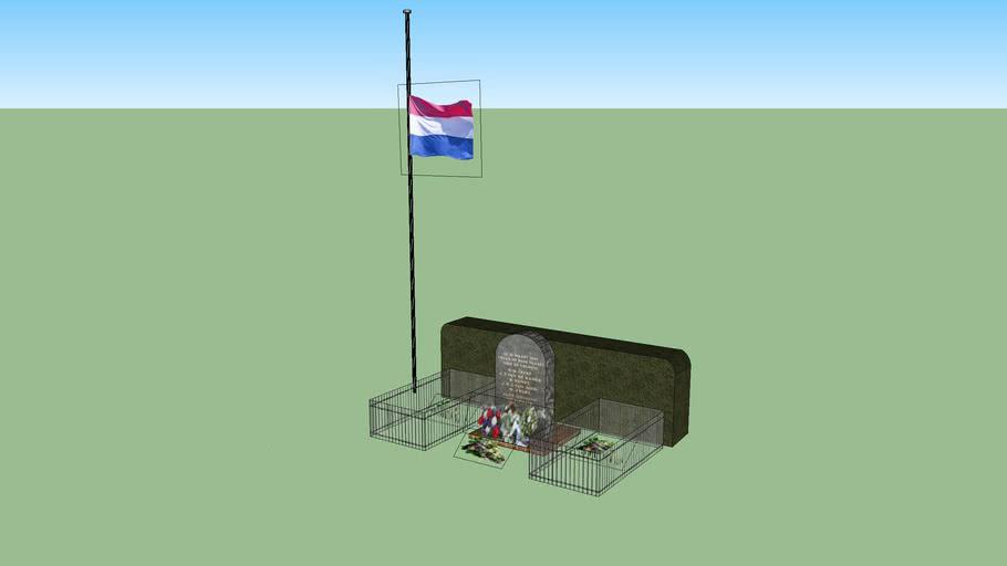 Monument ter nagedachtenis van vijf Alkmaarse verzetshelden.