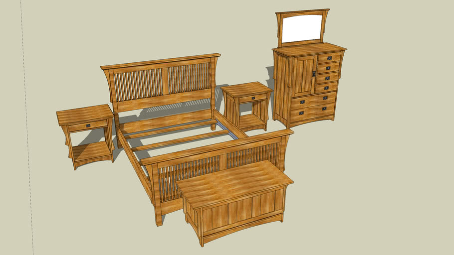 Arts & Crafts Bedroom Set