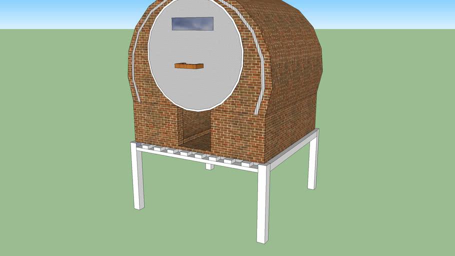 horno casero sobre mesada