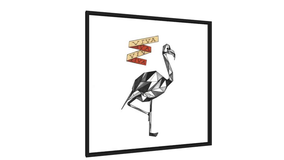 Quadro Flamingo - Série VIVA - Galeria9, por Felipe BIT
