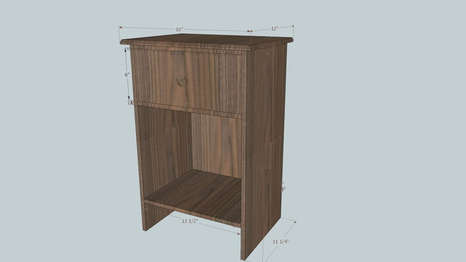 One drawer end table (night stand)