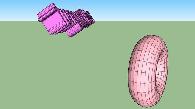 Pink 3D doughnut