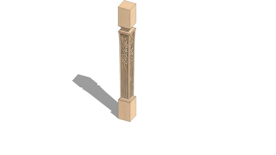 "01250257-1 Nouveau Island Column ( 3.5"" x 3.5"" x 35.25"" )"