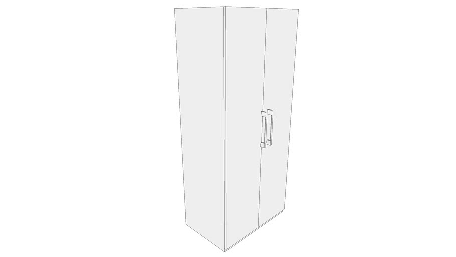 900 Wardrobe Module with Two Shutter, Four Inner Drawers with Gallery 900X585X2100 CPU_CPUU000322