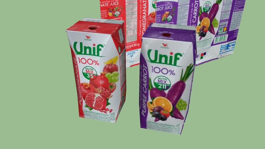 Unif Fruit Juice Packaging 200 ml