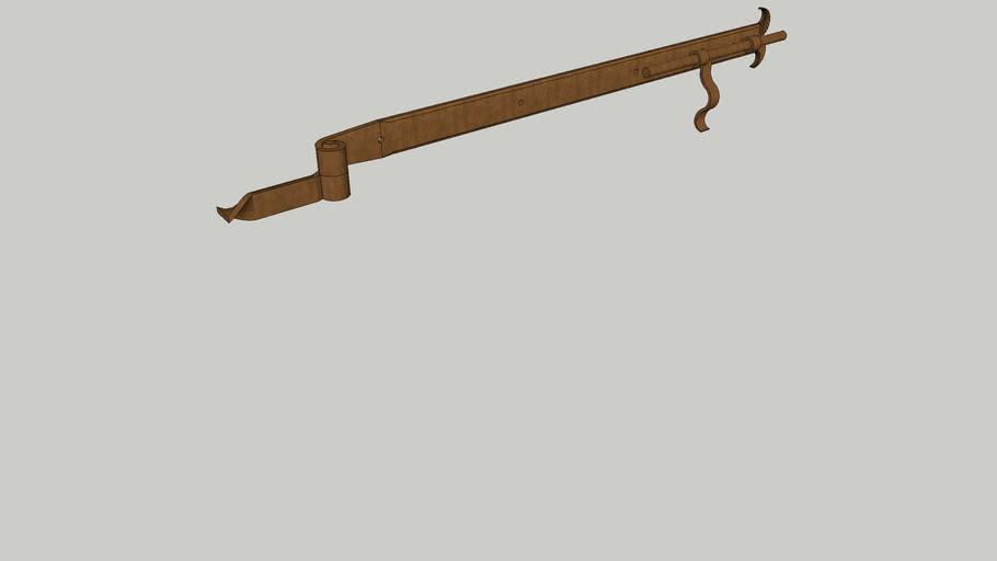 Penture fer forgé avec verrou