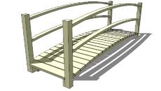 Wood pedestrian bridg