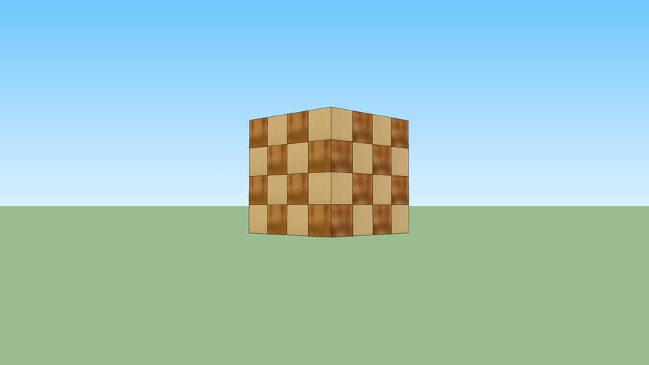 Cubo armable de madera con 14 componentes