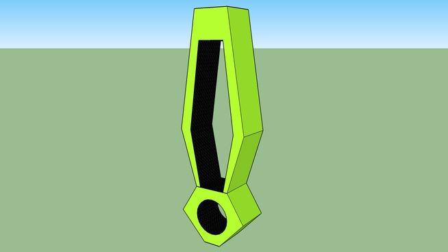 Estante Neon - Formato Exclamação