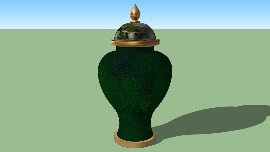 green oriental vase
