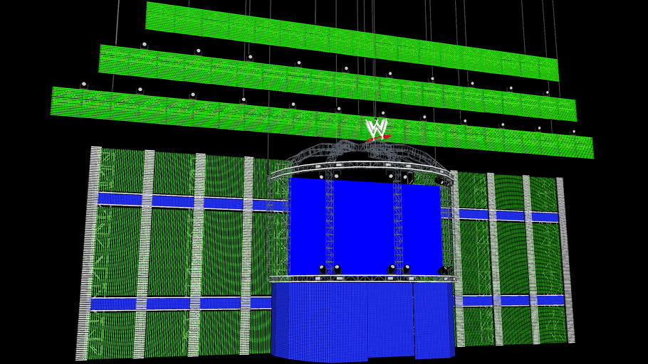 WWE Elimination Chamber 2013 Concept Stage Model #2