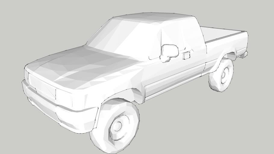 Car – Pickup Car – 1/100 – White