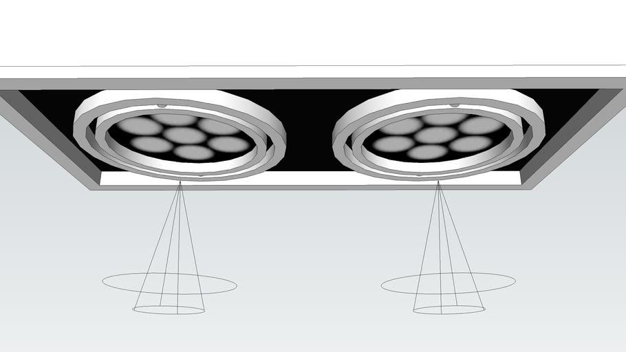 LED 15cm 雙崁燈組