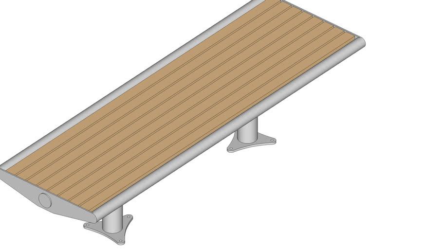 Скамейка без спинки «Палермо натур»