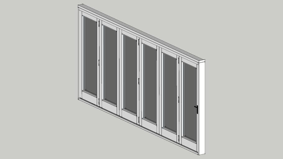 6 panel Folding Door