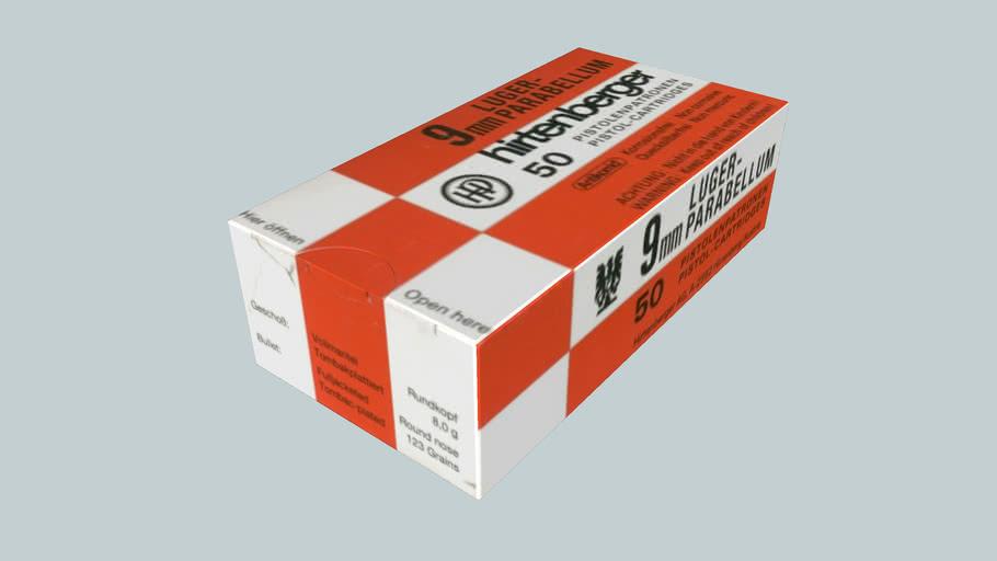 Hirtenberger. 9mm Parabellum, ,Ammo box