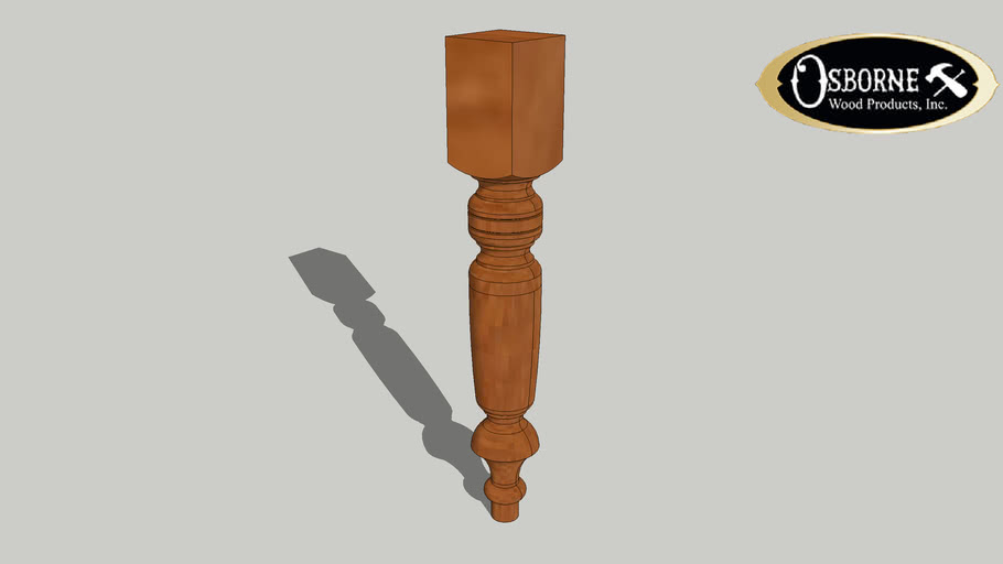 "Old World Coffee Table Leg (18"" x 2 3/4"")"