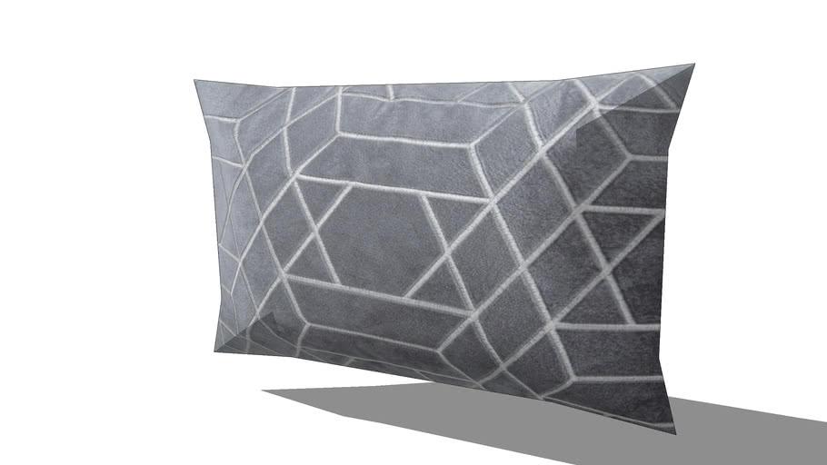 Coussin graphique gris anthracite 30x50cm ZOLA REF 167475 PRIX 17.99€