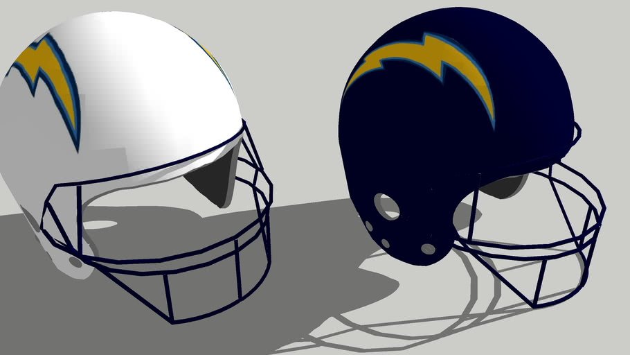 San Diego Chargers Football helmets