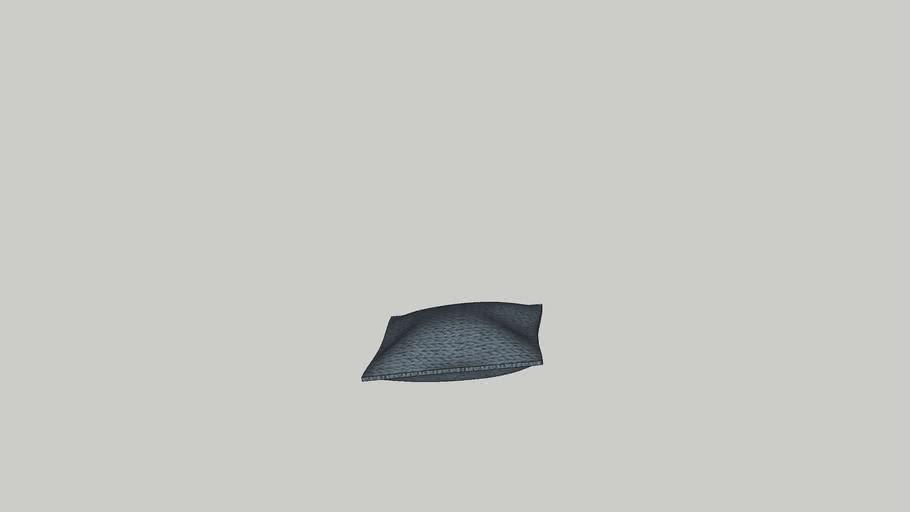 Knitted retangular cushion