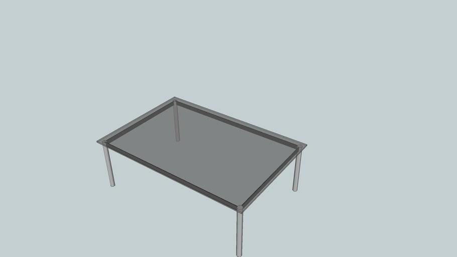 Le Corbusier LC 10 glass 120x60