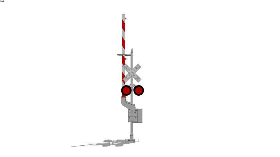 railroad grade crossing signal /w/ gate and light