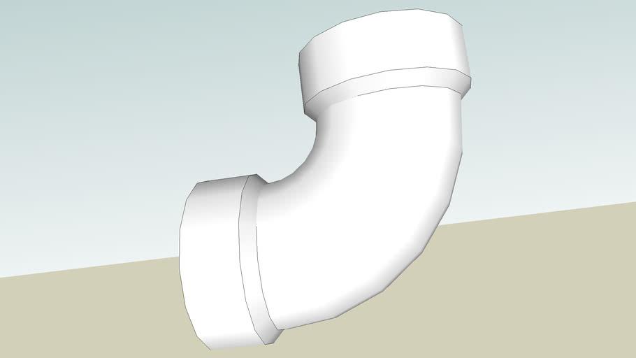 """2"""" PVC 90-deg sanitary elbow (Sched. 40)"""