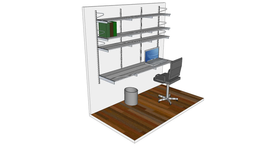 ISS Designs Modular Shelving - Wall Mounted System With Aluminum Shelf for Work Space