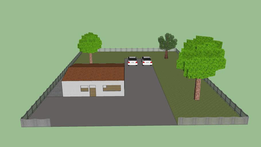 Haus mit Garten, house with a garden