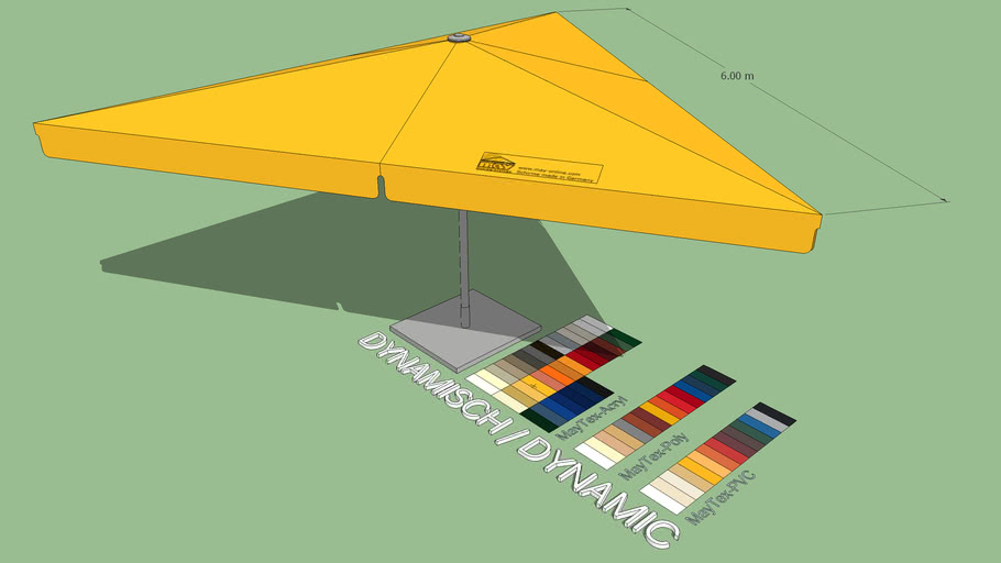 May Schattello 6x6x6m Triangle Market Umbrella