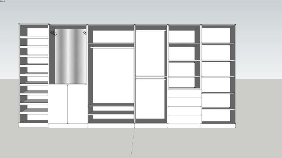conjunto closet 2400H