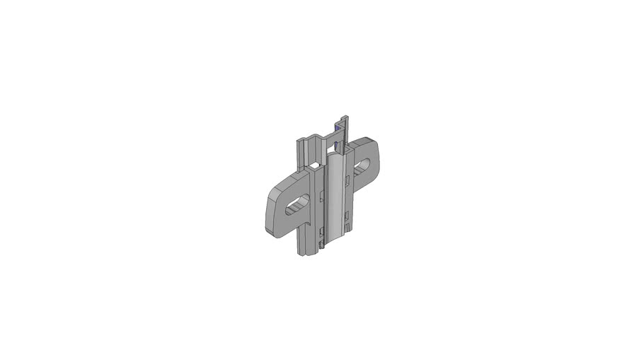 Screw-on cross mounting plate