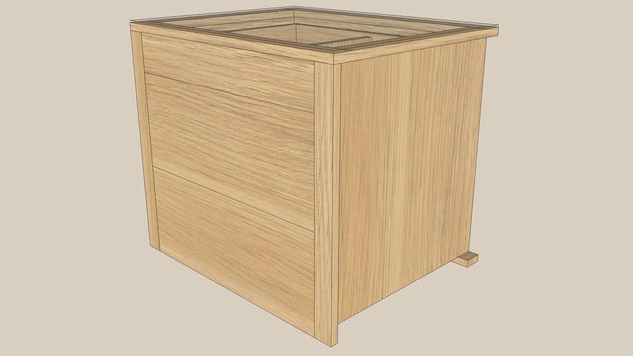 KOMPLEMENT drawer chest 75x58 oak