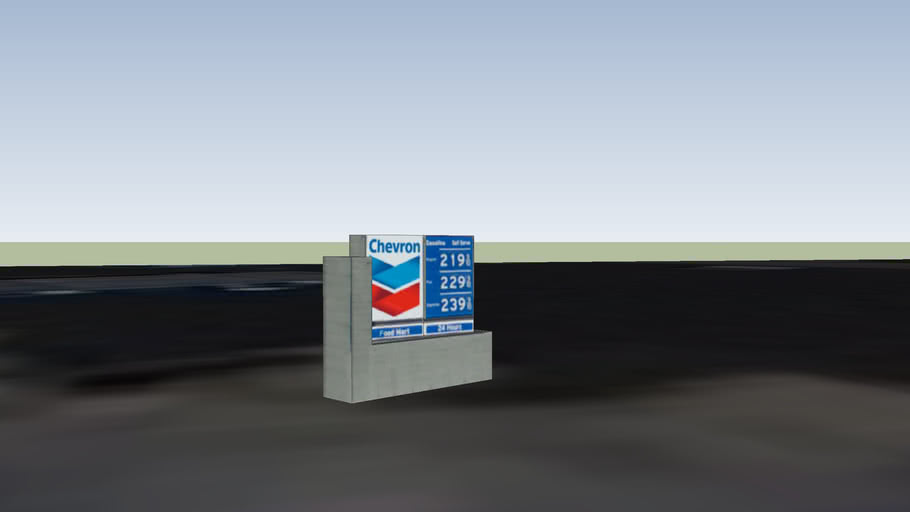 Gas Station Price Signage