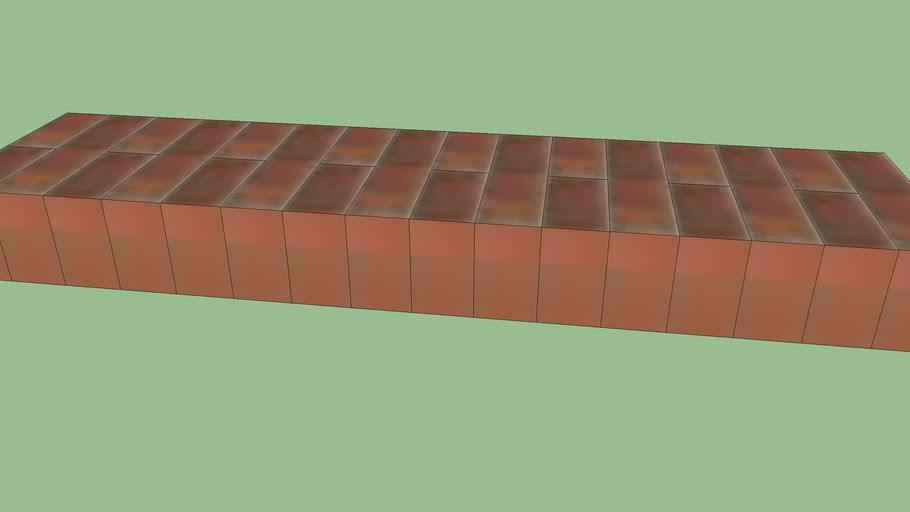 appui de fenetre en brique rouge