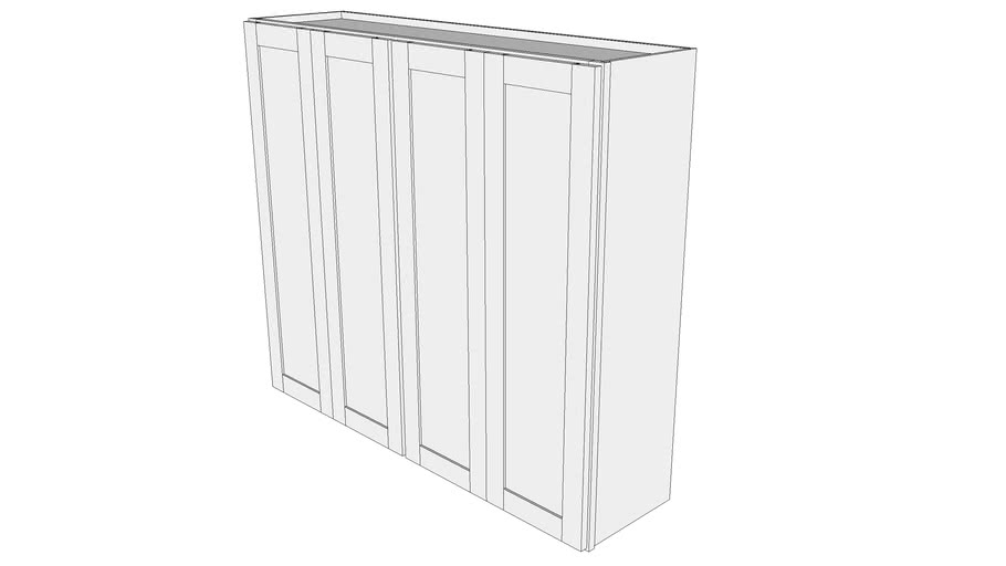 """Bayside Base Cabinet W4842F - 12"""" Deep, Two Sets, Butt Doors"""