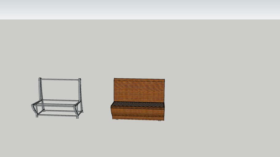 Flowing chair/bench desgin