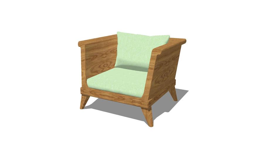 single wood sofa