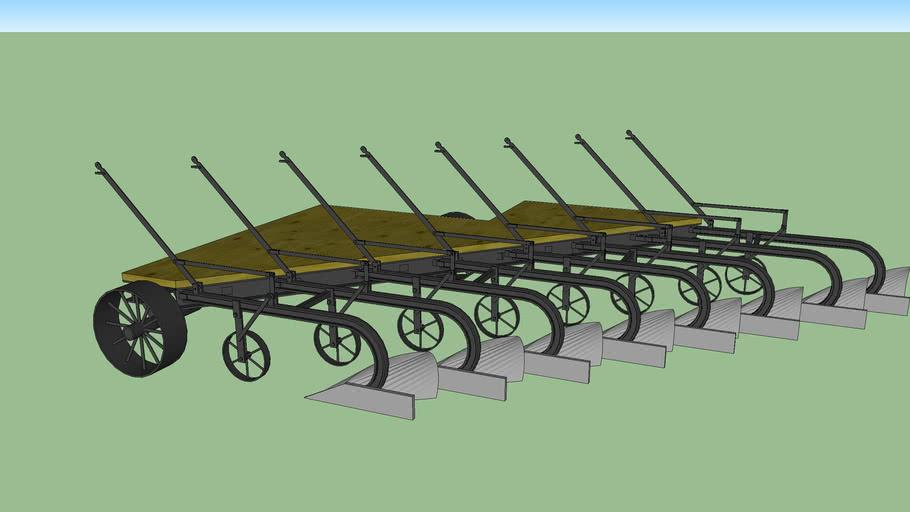 prairie tractor gang plow 8 bottom