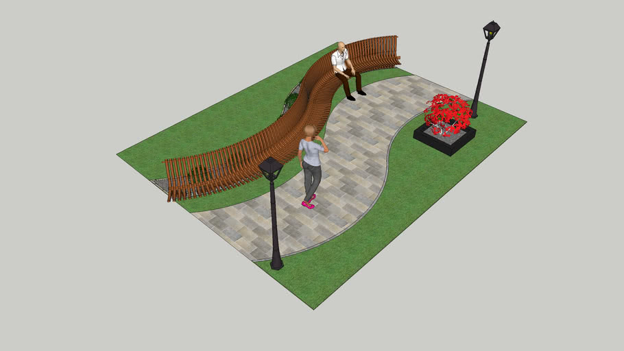 Parametric Bench on Side Walk - By Ahmed Elfeky