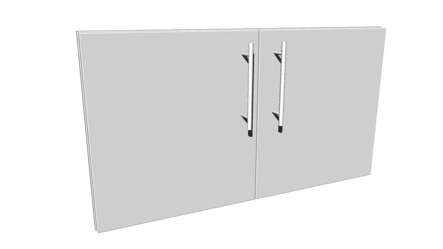 """Designer Series 42"""" Multi-Configurable Double Door w/Door Shelves"""