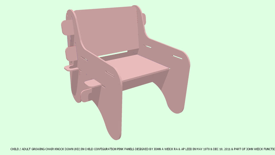 CHAIR CHILD/ADULT KD IN ADULT CONFIGURATION BY JOHN A WEICK RA & AP LEED