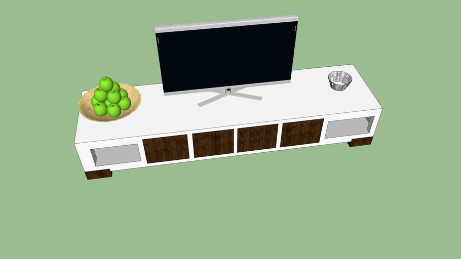 Computer En Tv Meubel.Loewe Met Tv Meubel 3d Warehouse